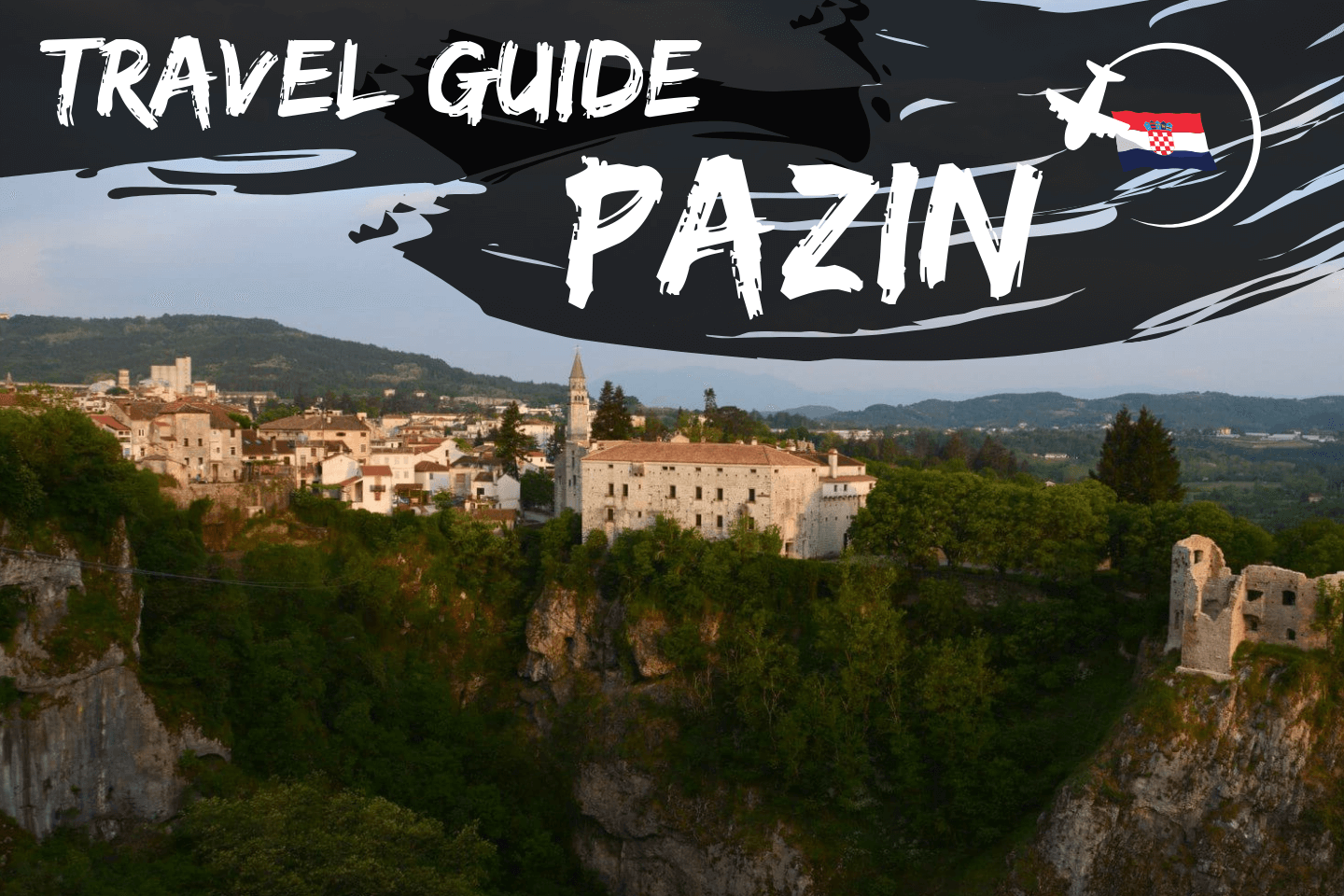Aerial picture of Pazin