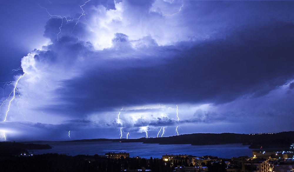 Can you see the same beauty as I in a lightning storm over Pula?